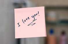 I love you post it note