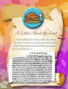 Thanksgiving Card: A Letter About the Feast