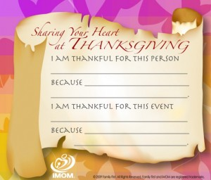 Thanksgiving Share Cards