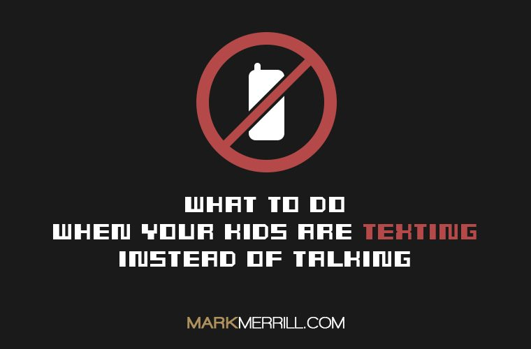texting instead of talking